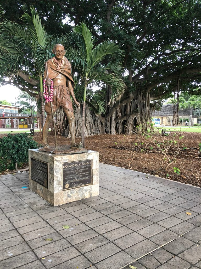 Photo of statue of Mahatma Ghandi